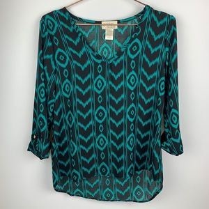 Golden State Printed Blouse